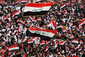 پرتاب ۱۵۰۰ کوکتل مولوتوف از سوی تظاهرکنندگان به نیروهای امنیتی عراق
