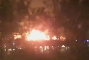 فیلم/ انفجار شدید گاز در خیابان کمیل تهران