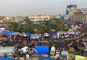 جمع شدن خیمههای معترضان عراقی پس از توئیت صدر +عکس