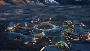 عکس/ زندگی آینده در مریخ