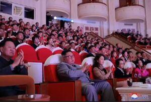 عمه کیم جونگ اون در ملاء عام ظاهر شد +فیلم