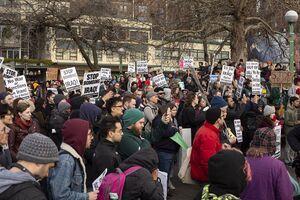 پیام تجمع ضدجنگ در بوستون: تحریم مردم ایران پایان یابد