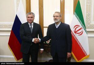 مذاکرات لاریجانی با رئیس دومای روسیه