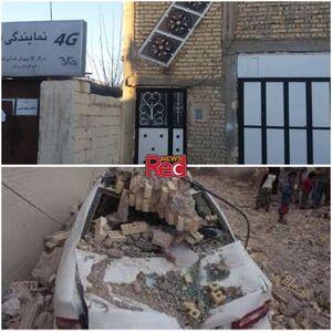 عکس/ نخستین تصاویر از خسارتهای زلزله ۵.۴ ریشتری در شیراز