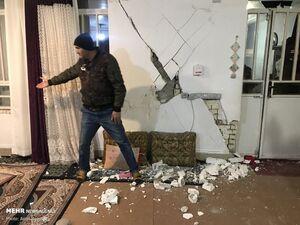 عکس/ خسارت زمین لرزه در خانه زنیان استان فارس
