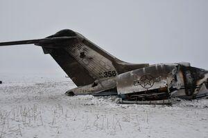 عکس/ ساقط کردن هواپیمای نظامی آمریکا در افغانستان