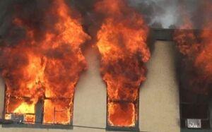 صهیونیستها یک مدرسه فلسطینی را آتش زدند +فیلم