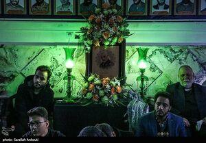 عکس/ فرزند شهید سلیمانی در مراسم عزاداری کرمان