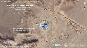 آماده سازی سکوی پرتاب ماهواره ایران