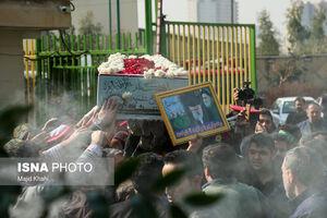 عکس/ تشییع شهید«گمنام» در خانه کُشتی