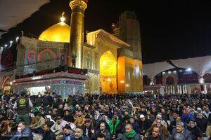 عکس/ حرم امام علی(ع) در شب شهادت حضرت زهرا(س)