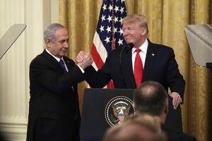 ترامپ نتانیاهو معامله قرن نمایه فلسطین اسرائیل امریکا