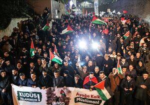 اعتراضات مردم ترکیه در مقابل سرکنسولگری آمریکا در استانبول+فیلم