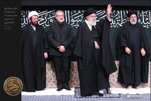 عکس/ عزاداری شام شهادت حضرت زهرا در حسینیه امام خمینی