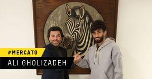علی قلیزاده با شارلوا تمدید کرد