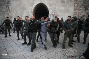 درگیری میان شهروندان فلسطینی و نظامیان صهیونیست