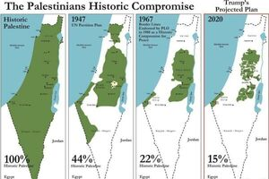 بررسی نقشهای که ترامپ از فلسطین منتشر کرد