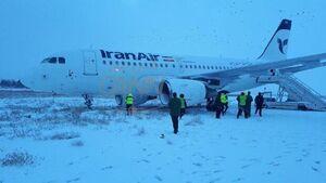 فیلم/ جزئیات خروج هواپیما ایرباس در فرودگاه کرمانشاه