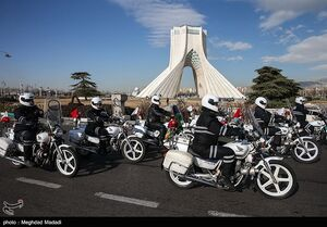 عکس/ رژه موتورسواران در آستانه سالگرد پیروزی انقلاب
