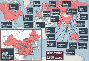 راکندگی مبتلایان به ویروس «کرونا» در جهان
