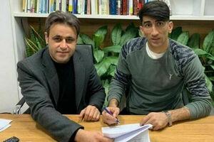 تصویری از لحظه امضای قرارداد بیرانوند با تیم آنتورپ بلژیک