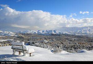 عکس/ رخت سفید زمستانی بر قامت سنندج