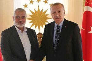 دیدار هنیه با اردوغان در استانبول