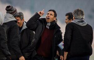 عکس/شادی مربی پرسپولیسی بعد از گل خوردن استقلال