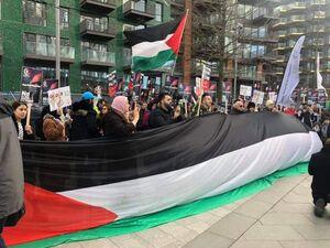 عکس/ تجمعات اعتراضی به معامله قرن در لندن