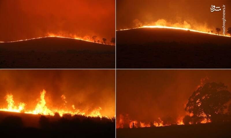 آتش سوزی در یک قدمی پایتخت استرالیا