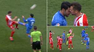 اتفاق نادر و عجیب در فوتبال اسپانیا +عکس