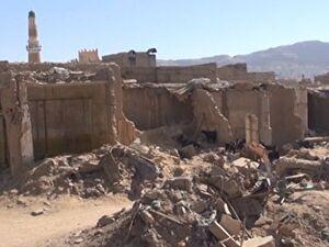تخریب زیرساختهای شهر صعده بر اثر بمباران سعودیها +فیلم