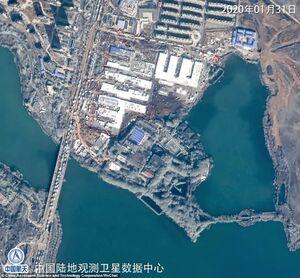 تصویر ماهوارهای قبل و بعد از ساخت بیمارستان در چین