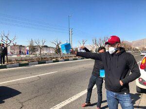 عکس/ فروش ویژه ماسک مقابل استادیوم آزادی
