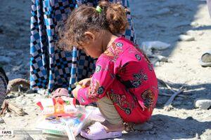 عکس/ امدادرسانی به سیلزدگان «بشاگرد» توسط کمیته امداد