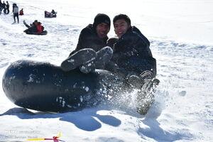 عکس/ تفریح زمستانی مردم مرکزی