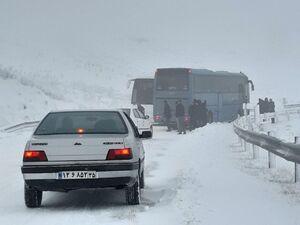 عکس/ بارش شدید برف در شمال غرب کشور