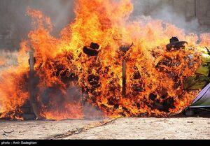 فیلم/ امحاء ۴۰ تن مواد مخدر در سیستان و بلوچستان