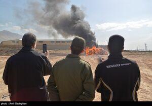عکس/ امحا ۱۳ تن مواد مخدر غیردارویی در شیراز