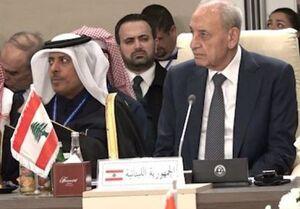 رئیس پارلمان لبنان: مقاومت، مقاومت، مقاومت