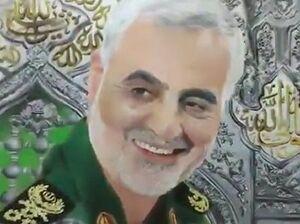 فیلم/ طراحی چهره سردار سلیمانی بر روی بوم نقاشی