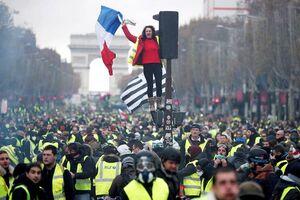 برگزاری شنبه اعتراضی فرانسه با وجود اعلام ممنوعیت پلیس +فیلم