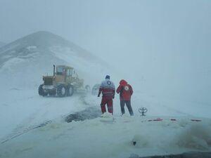 عکس/ برف و کولاک در محور خلخال - اسالم