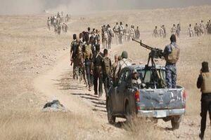 حملات توپخانه ای حشد شعبی علیه عناصر داعش در صلاح الدین