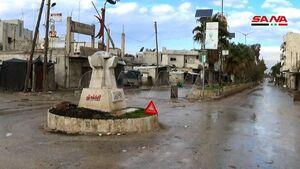 تصاویری از شهر سراقب در ادلب سوریه پس از فرار تروریستها