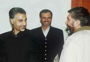 تصویری از شهید سلیمانی درکنار شهید کاظمی