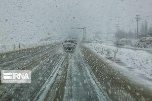 عکس/ برف و کولاک در محورهای کردستان