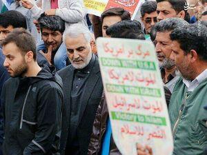 آخرین حضور فیزیکی سردار سلیمانی در راهپیمایی ۲۲ بهمن +عکس