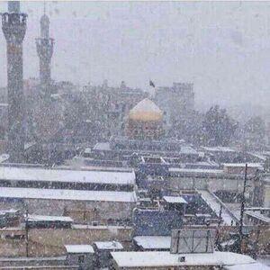 عکس/آسمان برفی حرم مطهر حضرت زینب(س)