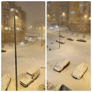 عکس/ وضعیت خیابانهای تبریز پس از بارش برف